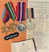 Ww2 4 Medal Group To Lac John Vidale Raaf Ground Crew 112 Mobile Fighter Unit