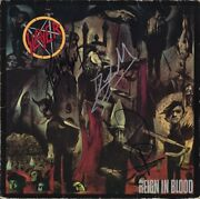Slayer Reign In Blood Vinyl Tom Araya Kerry King Dave Lombardo Autograph Signed