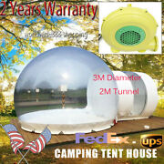 3m Inflatable Commercial Grade One Room Pvc Clear Eco Dome Camping Bubble Tent