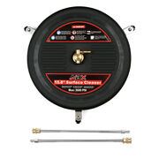 15 Inch Pressure Washer Surface Cleaner Attachment And Wheels And 2 Extension Wands