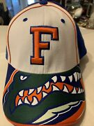 Vintage Florida Gators One Fit Hat By Top Of The World Big Gator Head On Bill