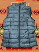 Eddie Bauer Womens Teal Down Full Zip Puffer Vest Jacket Size Large Eb650