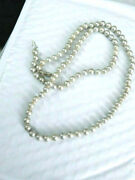 Amazing 28 7 Mm Round Cultured Fine Japan Gray Pearl Necklace Strung Necklace