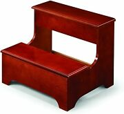 Coaster Traditional Wooden Step Stool With Lower Lift Top Storage