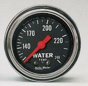 Autometer 2432 Gauge, Water Temp, 2 1/16 , 120-240 Degrees F, Mechanical, Trad