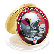 Business Souvenir Gifts Arizona Cardinals 24k Gold Plated Metal Coin Collections
