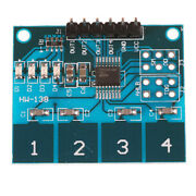 Ttp224 4- Channel Digital Touch Sensor Module Capacitive Touch Switch Buttonyjt6