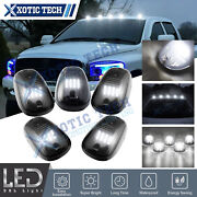 5pcs White Led Rooftop Cab Marker Lamps Smoked For Ram 1500 2500 3500 2003-17