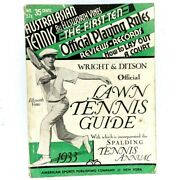 1933 Official Lawn Tennis Guide Rules Wright Ditson Ellsworth Vines Spalding 2k