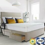 Sealy Posturepedic Innerspring Geltex Mattress And Fawn Divan In 4 Sizes