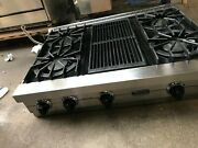36 Viking Stainless Gas Rangetop 4 + Grill In Los Angeles