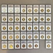 Complete Presidential Dollar Set Ngc Pr69 Cameo With Ngc Label Error