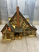 Retro Limited Edition 2003 Oandrsquowell Fiber Optic Cabin Porcelain Lighted House