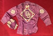 Vintage Don Drysdale Owned Horse Baseball Themed Jockey Uniform And Cap Old Racing