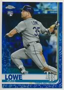 Nate Lowe 23 2019 Topps Chrome Blue Refractor Rc 42/150 Rangers/rays