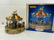 Lemax Belmont Carousel 2004 Village Collection Animated Lighted In Box