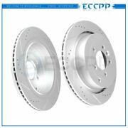 Rear Discs Brake Rotors For Land Rover Lr3 2005 - 2009 V8 Drilled And Slotted