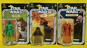 Set Of Three Exclusive 50th Lucasfilm Star Wars Figures In Hand - Greedo