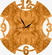 Trunk Colour Painted Wooden Wall Clock Round Shape Modern Home Decor