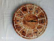 Trunk Colour Painted Wooden Wall Clock Wooden Wall Clock Round Shape Modern