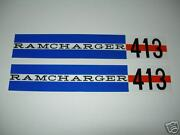 1962 Dodge 413 Max Wedge Valve Cover Decals 1n