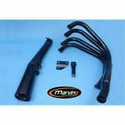 System Of Exhaust Complete 4 In 1 Black Marving Kawasaki Z 1000 R 1983-1986