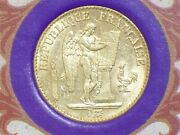 1876 French 20 Franc Gold French Angel Encased In The Lucky Angel Booklet