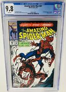 Amazing Spider-man 361 Cgc 9.8 White Pages 1st Appearance Of Carnage Venom 2