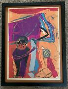 """Sister Corita Kent, """"st. Paul"""" 1958 Color Screen Print, Hand Signed And Titled"""