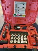 Milwaukee Hydraulic 18v Li-ion Crimper 2679-600c 2 Jaws With 15 Piece U-die Set