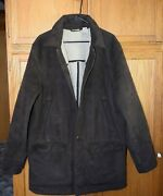 L.l. Bean Ll Bean Sherpa Lined Barn Chore Coat Large Mens Size Tall Nice