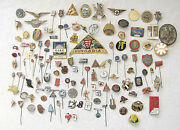 Large Collection Of 126 Antique And Old Badges Pins From Over The World