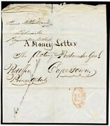 1855-63 Cape Of Good Hope Money Letter Cover