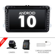 Cam+obd+carplay+ For Vw Golf Jetta Passat Caddy 8 Car Stereo Dvd Gps Android 10