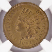 Ngc 1c 1864 Indian Cent Judd-356a Thin Copper/tin Planchet Ms62 Bn