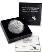 2016 P Harpers Ferry America The Beautiful Atb 5 Oz .999 Silver Coin With Ogp
