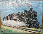 1919 Baldwin Pacific 4-6-2 Steam Locomotive New Original Painting Signed Crowell