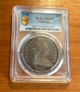 1798 Draped Bust Silver Dollar Large Eagle Pcgs Vg 10