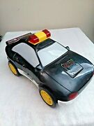 Vhtf Early 90and039s Vintage Spinning Police Car With Bump-n-go Lights And Sound
