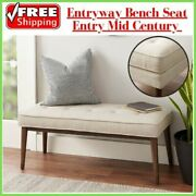 Entryway Bench Seat Entry Mid Century Modern Foyer Mud Room Bed Shoe Hall Stool