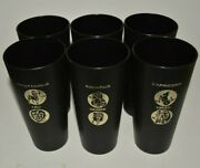 Vintage Plastic Horoscope Zodiac Signs Drink Cups Set Lot Of 6 Rare