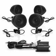 Boss Audio Systems Mcbk470b Motorcycle Bluetooth Speaker System Class D Compact