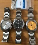 Lot Of 3 Colors Of Seiko Sus Ags Cal. 5m42 Kinetic Mens Watch All Working