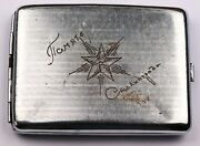 Ww2 Soviet Cigarette Case Box Wwii Memory Of Stalingrad Ussr Red Army Russian