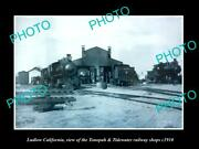 Old Postcard Size Photo Of Ludlow California Tonopah And Tidewater Railway C1910
