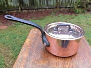 Bourgeat 3.1mm French 5 Copper Sauce Pan Tin Lined W/ Stainless Lid