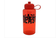 New - 32oz 'beast' Attitude Sports Squeeze Water Bottle W/ Carry Handle - Red