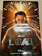 Disney Plus Loki Teaser Poster 27x40 Double Sided Ds Authentic 2a