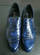 2250 New Pakerson Blue Alligator Loafer Men's Shoe Us12 Eu45 Made In Italy