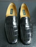 2250 New Pakerson Black Alligator Loafer Men's Shoe Us12 Eu45 Made In Italy